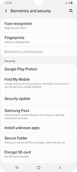 Samsung Galaxy A70 - Device - Enable Find my Phone - Step 5