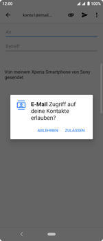Sony Xperia 10 - E-Mail - E-Mail versenden - Schritt 5
