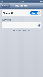 Apple iPhone 5 - Bluetooth - Connecting devices - Step 7