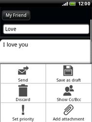 HTC A3333 Wildfire - E-mail - Sending emails - Step 9