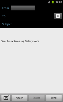 Samsung N7000 Galaxy Note - E-mail - Sending emails - Step 5