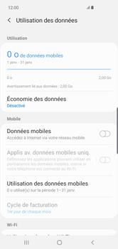 Samsung Galaxy S10 Plus - Internet et connexion - Désactiver la connexion Internet - Étape 7