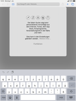 Apple iPad 9.7 (2018) - iPadOS 13 - Internet und Datenroaming - Verwenden des Internets - Schritt 4