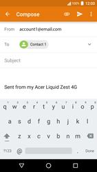 Acer Liquid Zest 4G - E-mail - Sending emails - Step 7