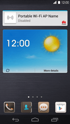 Huawei Ascend P6 - Getting started - Installing widgets and applications on your start screen - Step 9
