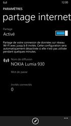 Nokia Lumia 930 - Internet et connexion - Partager votre connexion en Wi-Fi - Étape 6
