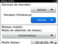BlackBerry 9320 - Aller plus loin - Désactiver les données à l'étranger - Étape 6