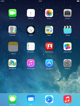 Apple iPad Air - Getting started - Personalising your Start screen - Step 8