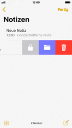 Apple iPhone SE - iOS 11 - Neue Funktionen der Notizen - 23 / 26