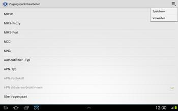 Samsung Galaxy Tab 2 10-1 - Internet - Manuelle Konfiguration - 15 / 25