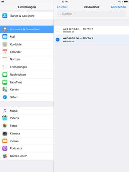 Apple iPad Air 2 - iOS 11 - Anmeldedaten hinzufügen/entfernen - 11 / 13