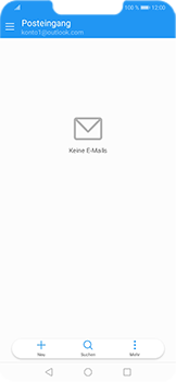 Huawei Honor Play - E-Mail - Konto einrichten (outlook) - Schritt 4