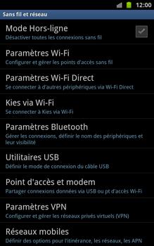 Samsung N7000 Galaxy Note - Internet - Configuration manuelle - Étape 5