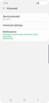 Samsung Galaxy S10 Plus - Voicemail - Manual configuration - Step 9
