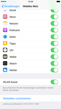 Apple iPhone 6s Plus - WLAN - WLAN Assist deaktivieren - Schritt 5