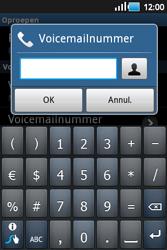 Samsung S5660 Galaxy Gio - Voicemail - Handmatig instellen - Stap 6