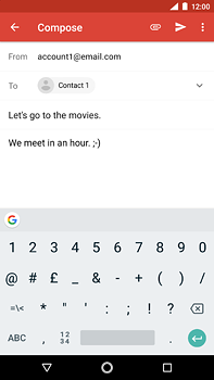 Nokia 6 (2018) - E-mail - Sending emails - Step 9