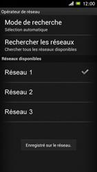 Sony Xperia J - Réseau - Sélection manuelle du réseau - Étape 10