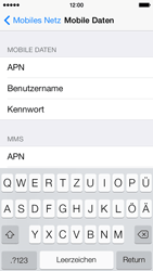 Apple iPhone 5c - Internet und Datenroaming - Manuelle Konfiguration - Schritt 8