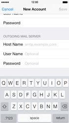 Apple iPhone 5 iOS 7 - E-mail - manual configuration - Step 16
