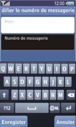Samsung S8500 Wave - Messagerie vocale - configuration manuelle - Étape 8