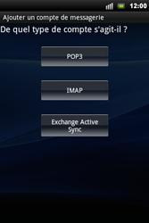 Sony Xperia Mini Pro - E-mail - Configuration manuelle - Étape 6