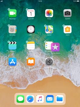 Apple iPad Pro 9.7 inch - iOS 11 - Mehrere App-Symbole gleichzeitig verschieben - 3 / 5