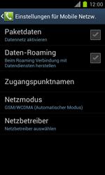 Samsung Galaxy S II - Netzwerk - Manuelle Netzwerkwahl - Schritt 11