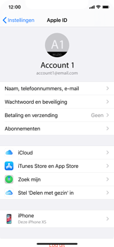 Apple iPhone X - iOS 13 - toestel resetten - back-up maken met jouw account - stap 10