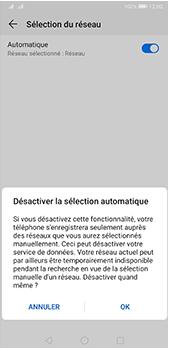 Huawei P20 Pro - Android Pie - Réseau - Sélection manuelle du réseau - Étape 7