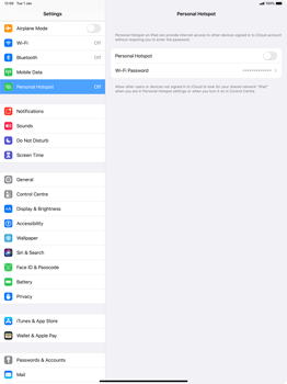 Apple iPad Pro 12.9 (2nd gen) - iPadOS 13 - WiFi - How to enable WiFi hotspot - Step 6
