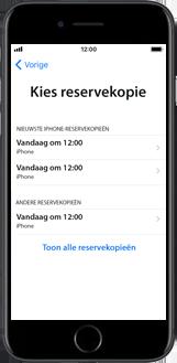 Apple iphone-se-met-ios-13-model-a1723 - Instellingen aanpassen - Activeer het toestel en herstel jouw iCloud-data - Stap 22
