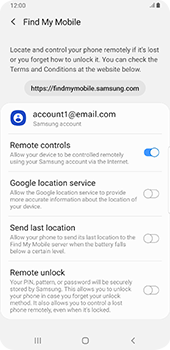 Samsung galaxy-s9-plus-android-pie - Device - Enable Find my Phone - Step 7