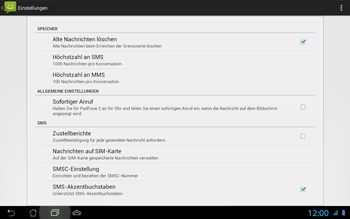 Asus Padfone 2 - SMS - Manuelle Konfiguration - Schritt 6