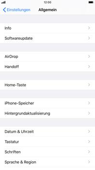 Apple iPhone 8 Plus - iOS 13 - Startanleitung - So fügen Sie eine Tastatursprache hinzu - Schritt 4