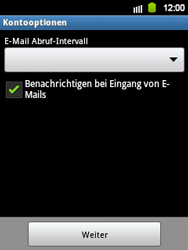 Samsung Galaxy Y - E-Mail - Manuelle Konfiguration - Schritt 14