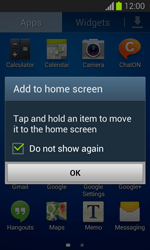 Samsung Galaxy Trend Lite - Getting started - Installing widgets and applications on your start screen - Step 5