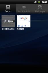 Sony Xperia Mini Pro - Internet - Navigation sur Internet - Étape 8