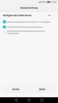 Huawei P9 Plus - E-Mail - Konto einrichten (yahoo) - Schritt 9