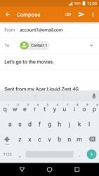 Acer Liquid Zest 4G - E-mail - Sending emails - Step 8