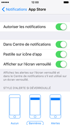 Apple iPhone SE - iOS 10 - iOS features - Personnaliser les notifications - Étape 5