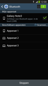 Samsung N9005 Galaxy Note III LTE - bluetooth - aanzetten - stap 7