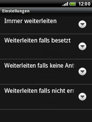 HTC A3333 Wildfire - Anrufe - Rufumleitungen setzen und löschen - Schritt 8