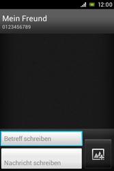Sony Xperia E - MMS - Erstellen und senden - Schritt 13