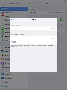 Apple iPad Pro 9.7 - iOS 10 - E-mail - e-mail instellen: IMAP (aanbevolen) - Stap 23