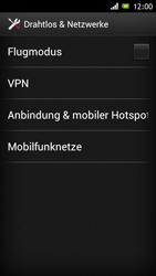 Sony Xperia J - Netzwerk - Netzwerkeinstellungen ändern - Schritt 5
