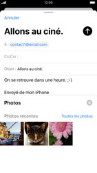 Apple iPhone 7 - iOS 13 - E-mail - Envoi d