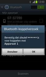 Samsung S7390 Galaxy Trend Lite - Bluetooth - Koppelen met ander apparaat - Stap 7