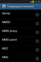 Samsung S6810P Galaxy Fame - MMS - handmatig instellen - Stap 11