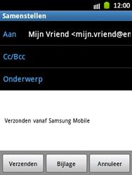 Samsung S5300 Galaxy Pocket - E-mail - Hoe te versturen - Stap 8